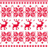 Nordic seamless knitted christmas pattern vector Royalty Free Stock Images