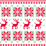 Nordic seamless knitted christmas pattern vector Stock Photos