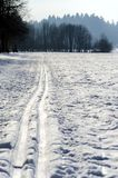 Nordic ski track Stock Images