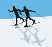 Nordic skiing Stock Photography