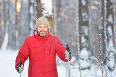 Nordic skiing Stock Photos