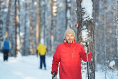 Nordic skiing Stock Images