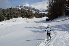 Nordic Skiing, Nauders, Austria Royalty Free Stock Photography