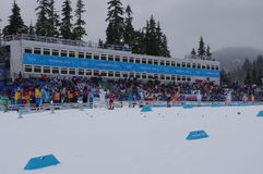 Nordic skiing stadium at Vancouver2010 Stock Photography