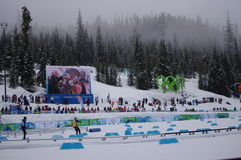 Nordic skiing stadium at Vancouver2010. Nordic skiing stadium during Women cross country race at Winter Olympics, Vancouver2010 Royalty Free Stock Photography