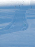 Nordic Skiing Tracks In The French Alps Stock Image