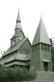 Nordic stave church. In Hahnenklee-Bockswiese near Goslar, built in 1907/08, Architect: Karl Mohrmann, Lower Saxony, Harz, Germany Stock Photos