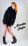 Nordic style girl Stock Images