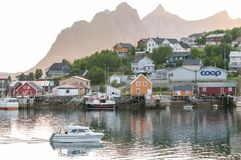 Nordic summer night in Lofoten Royalty Free Stock Image