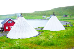 Nordic tipis for rent Royalty Free Stock Images