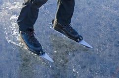 Nordic tour skates Stock Images