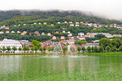 Nordic Town on a Cloudy Day Royalty Free Stock Photos