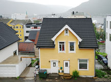 Nordic town Tromso in summer Royalty Free Stock Photo