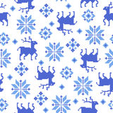 Nordic tradition pattern Royalty Free Stock Images