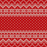 Nordic traditional Fair Isle style seamless knitted pattern Stock Images