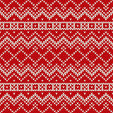Nordic traditional Fair Isle style seamless knitted pattern Stock Photos