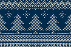 Nordic traditional Fair Isle style seamless knitted pattern Royalty