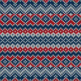 Nordic traditional Fair Isle style seamless knitted pattern Royalty Free Stock Photos