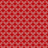 Nordic traditional Fair Isle style seamless knitted pattern. Seamless pattern ornament on the wool knitted texture. EPS available Stock Images