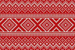 Nordic traditional Fair Isle style seamless knitted pattern Royalty Free Stock Photo