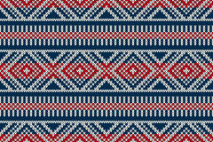 Nordic traditional Fair Isle style seamless knitted pattern Royalty Free Stock Photography
