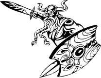 Nordic viking - vector illustration. Vinyl-ready. Stock Photography