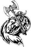 Nordic viking - vector illustration. Vinyl-ready. Royalty Free Stock Image