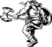 Nordic viking - vector illustration. Vinyl-ready. Stock Image