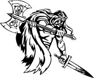 Nordic viking - vector illustration. Vinyl-ready. Royalty Free Stock Images