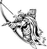 Nordic viking - vector illustration. Vinyl-ready. Royalty Free Stock Photography