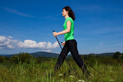 Nordic walker Stock Photo