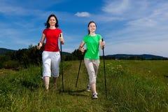 Nordic walkers Stock Photos
