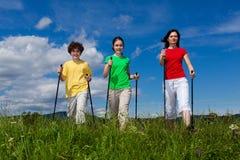 Nordic walkers Stock Image