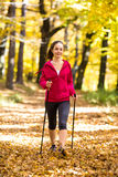 Nordic walkers Stock Image