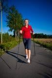 Nordic walkers Stock Photo