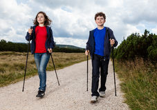 Nordic walkers Royalty Free Stock Photos