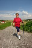 Nordic walking Royalty Free Stock Images