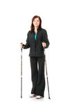 Nordic walking Stock Photo