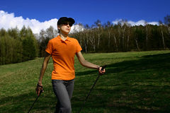 Nordic walking #2 Royalty Free Stock Photos