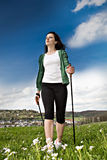 Nordic walking Royalty Free Stock Photos