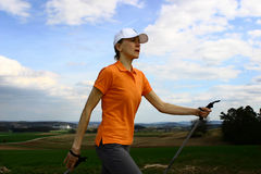 Nordic walking #3 Royalty Free Stock Photography