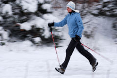 Nordic walking Royalty Free Stock Image