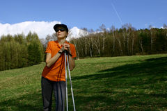 Nordic walking #4 Royalty Free Stock Photography