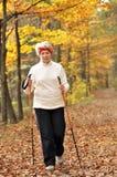 Nordic walking Royalty Free Stock Photos
