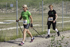 Nordic walking competition Stock Images