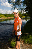 Nordic walking girl 2 Stock Photography