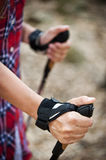Nordic Walking hand Royalty Free Stock Photos