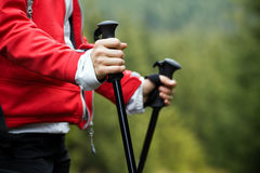 Nordic Walking hands Royalty Free Stock Photography