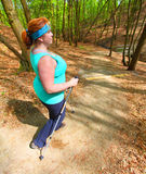 Nordic walking. Stock Photo