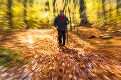 Nordic walking sport run walk motion blur outdoor person legs fo Stock Image
